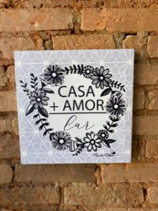 Quadro Canvas Casa + Amor
