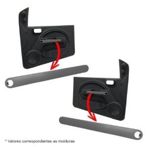 Puxador Moldura Porta Dianteira Esquerda Fiat Novo Uno