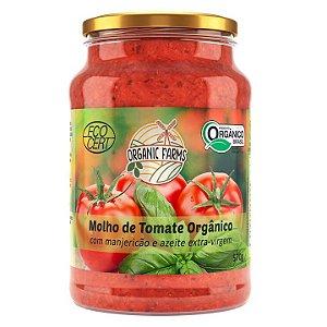 Molho de Tomate Orgânico com Manjericão e azeite 570g