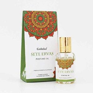 Perfume Indiano Sete Ervas -  Goloka - 10ml
