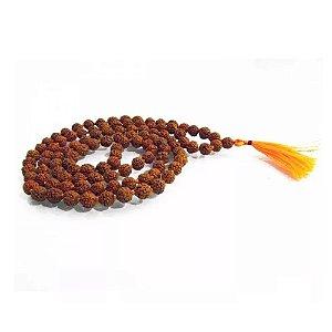 Japamala  de sementes originais de Rudraksha 108 contas pequena 35cm.