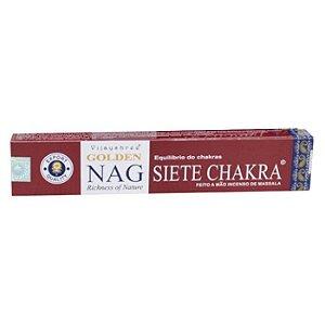 Incenso Massala Golden Nag 7 chakaras. Equilíbrio dos Chakras