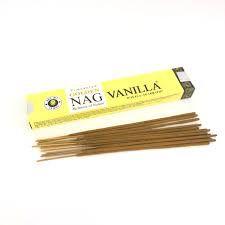 Incenso de Massala Golden Nag Vanilla- Energia calmante e amor
