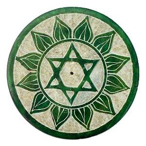 Incensário Mandala em Pedra  - 8cm