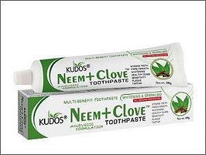 Creme dental  sem Flúor com Neem, Triphala Tulsi e + 15 ervas  Ayurvedicas 100g. Vegetariana e Vegana.