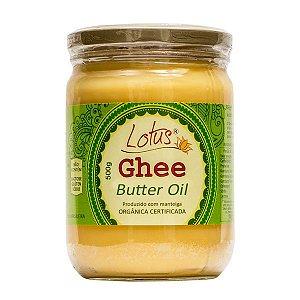 Lotus Ghee  - 500 g/600 ml.  Ghee produzido com manteiga orgânica Timbauba.