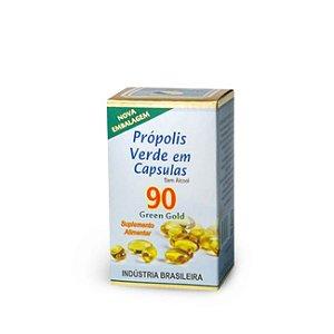 Extrato de própolis verde em cápsulas . 90 cápsulas com 250 mg.