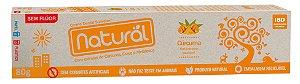Creme Dental Natural Vegano com Extrato de Cúrcuma. 80G. Sem Flúor e Corantes  Artificiais.