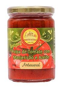 Polpa de Tomate  Ecologica feita com tomates Orgânicos,Manjericão e azeite - 300ml