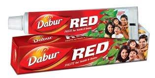 Creme Dental Dabur Red 100g-  Canela e cravo. Sem flúor e  não testado em animais. no cruelty!