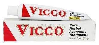 Creme dental VICCO 100 g- Sem FLÚOR , VEGANO e com mais de 18 ervas  antibactericidas.