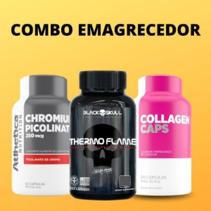COMBO: Thermo Flame 60caps + Picolinato de Cromo 60caps + Collagen Caps 120caps