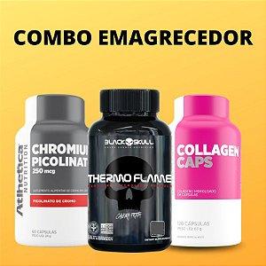 COMBO: Thermo Flame 60caps + Picolinato de Cromo 60caps + Collagen Caps 120caps