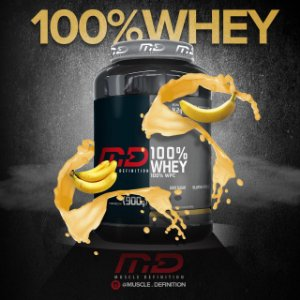 100% Whey 900g - MD
