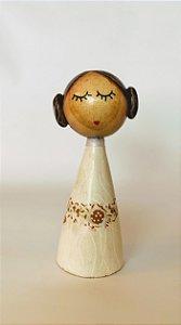 Boneca de madeira Princesa Leia