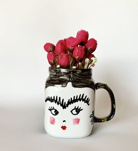 Caneca decorativa Frida Kolors