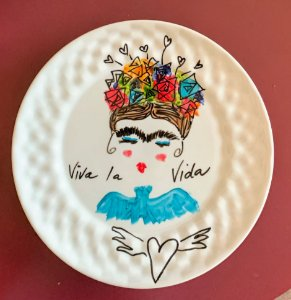 Prato decorativo Frida Blue