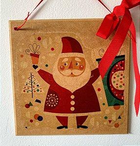 Enfeite para Porta Noel Vintage