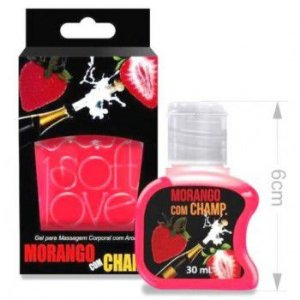 GEL HOT MORANGO com champ 30ML