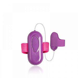 Cápsula vibratória dupla revestida em silicone, possui 30 modos de vibração