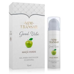 GOOD VIBE - Gel Lubrificante Vibratório - Maça Verde - embalagem com 15ml