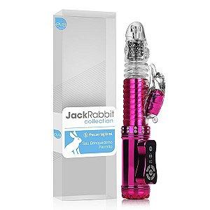 Vibrador Rotativo Jack Rabbit VAI E VEM RECARREGÁVEL – Rosa Cromado – Pantera