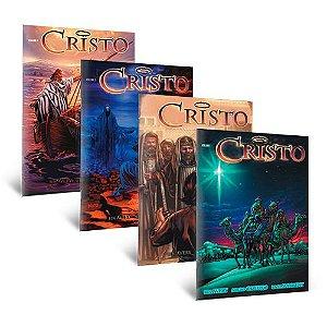 """O CRISTO"" - Volumes de 1 a 4 (15x22cm) Pack com 10 kits"