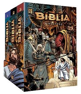Bíblia Kingstone (BOX) - a Bíblia completa em quadrinhos (brinde grátis)