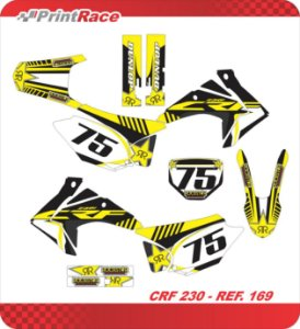 Crf 230 - Black Yellow Lethal
