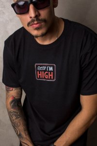 Camiseta Sorry I'm High