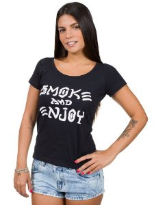 Camiseta Feminina Smoke and Enjoy
