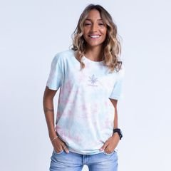 Camiseta Feminina Tie Dye Leaf