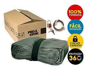 Capa Cobrir Carro Standard 100 % Forrada com Cadeado - XG