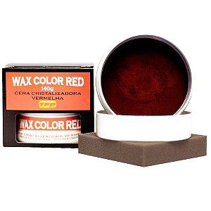 Cera Cristalizadora Automotiva Wax Color Vermelha - 140g