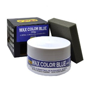 Cera Cristalizadora Automotiva Wax Color Blue - 140g