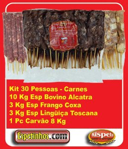 Kit Churrasco 30 Convidados