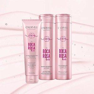 Cadiveu Boca Rosa Kit Home Care Shampoo/Condicionador/Proteína