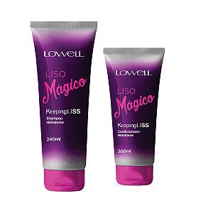 Liso Mágico Lowell Kit Shampoo + Cond +Fluido
