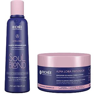Soul blond  Kit shampoo 250ml +repositor 300g