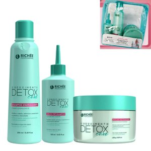 Kit Richée Professional Detox 3 itens shampoo Loção e Masc