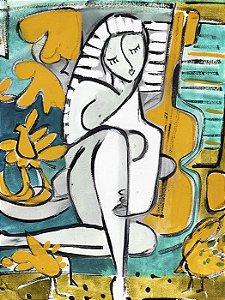 Composição em Amarelo e Esmeralda