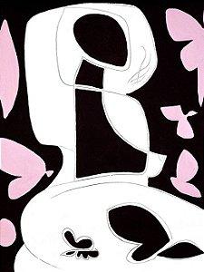 Abstrato Marrom e Rosa