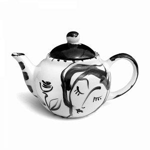 Bule de Chá - Rosto e Flor