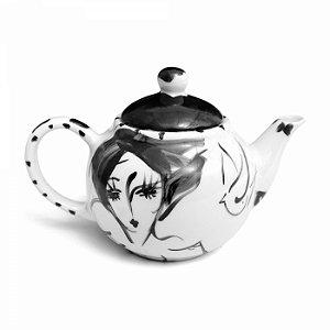 Bule de Chá - Rosto e Pássaro