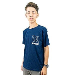 Camisa azul marinho CEAP desde 1985 minimalista