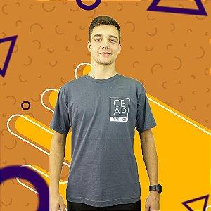 Camisa chumbo minimalista