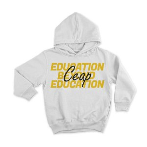 Blusa moletom branca education beyond education