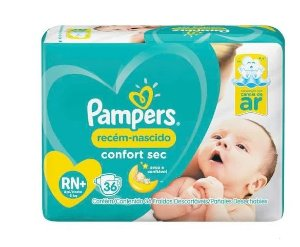 Fralda Descartável Pampers Confort Sec tamanho RN+ 36 unidades