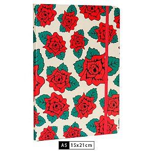 Caderneta Branca Flowers – Frida Kahlo