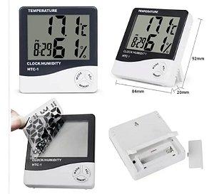 Termômetro Relógio Digital Termo-higrômetro Parede Mesa
